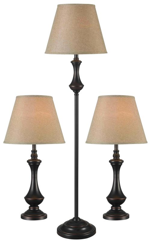 Kenroy Home 32199 Pack of 3 Genie 1 Light Floor Lamp and 2 Table Lamps