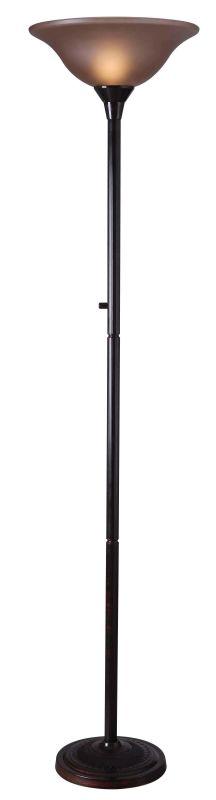 Kenroy Home 32216 Riverside 1 Light Torchiere Floor Lamp Copper Bronze