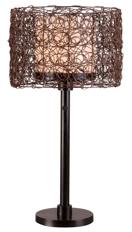Kenroy Home 32219 Tanglewood 1 Light Outdoor Table Lamp Bronze Lamps