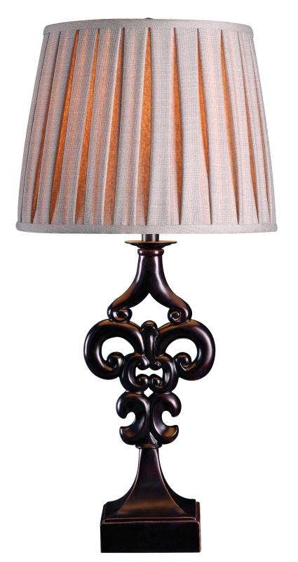 Kenroy Home 32242 Fleur 1 Light Table Lamp Oil Rubbed Bronze Lamps