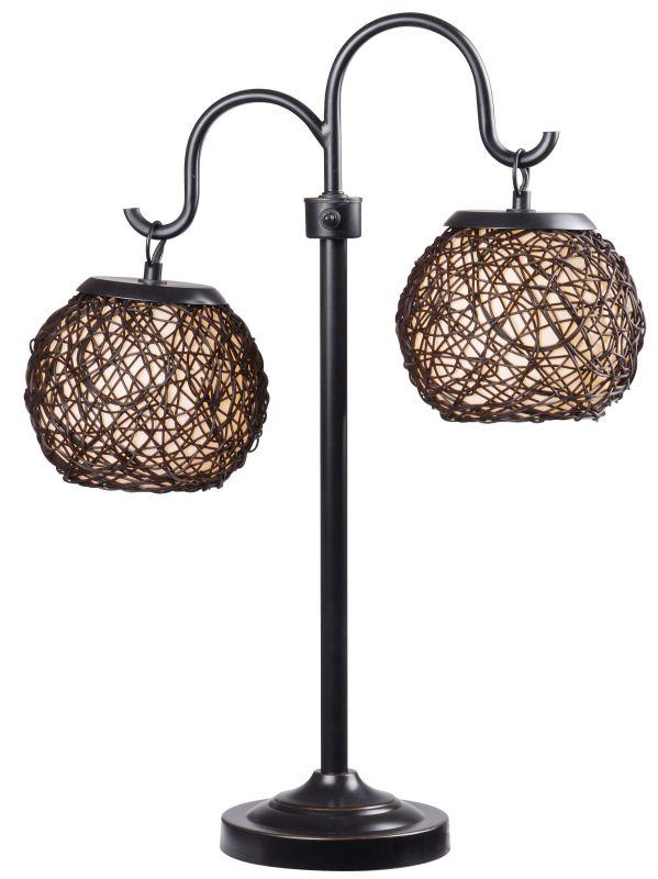 Kenroy Home 32245 Castillo 2 Light Outdoor Table Lamp Bronze Lamps