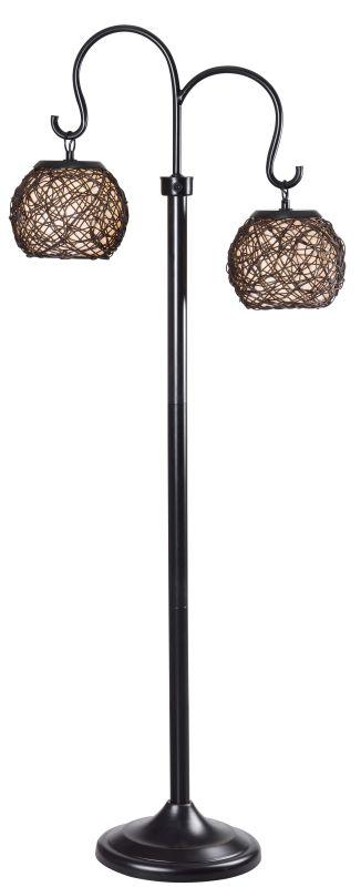 Kenroy Home 32246 Castillo 2 Light Outdoor Floor Lamp Bronze Lamps