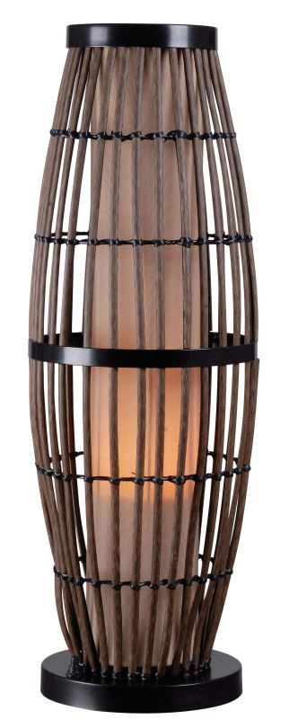 Kenroy Home 32247 Biscayne 1 Light Outdoor Table Lamp Rattan / Bronze