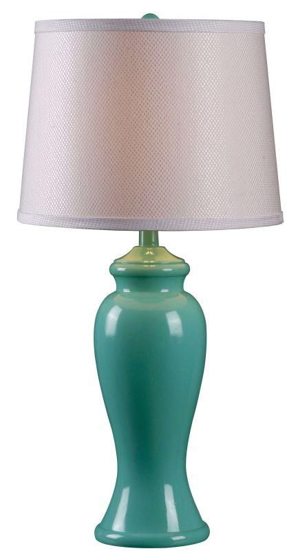 Kenroy Home 32256TEAL Amelia 1 Light Table Lamp Teal Gloss Lamps