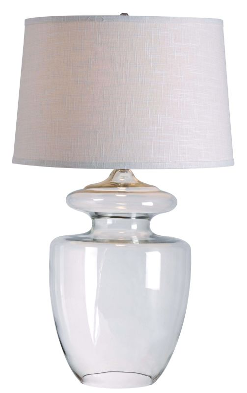 Kenroy Home 32260 Apothecary 1 Light Table Lamp Clear Glass Lamps