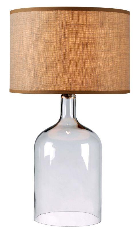 Kenroy Home 32261 Capri 1 Light Table Lamp Clear Glass Lamps