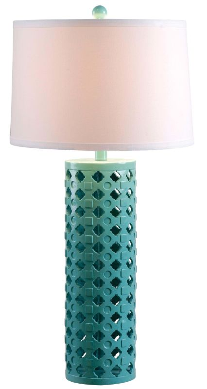 Kenroy Home 32272 Marrakesh 1 Light Table Lamp Teal Lamps