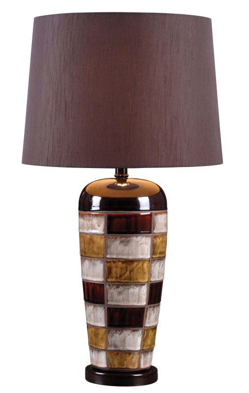 Kenroy Home 32273CER Torino 1 Light Table Lamp Ceramic Multi-Colored