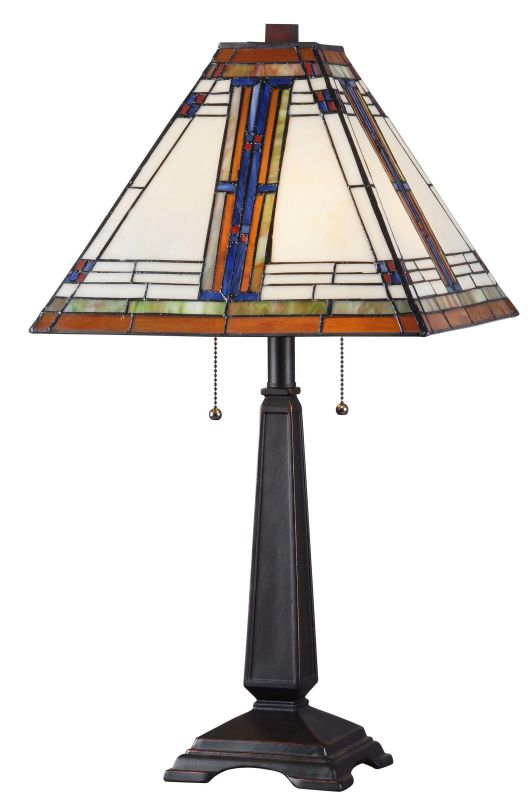 Kenroy Home 32286ORB Pratt 2 Light Table Lamp Oil Rubbed Bronze Lamps