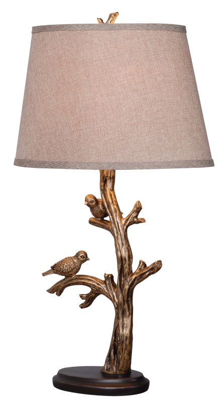 Kenroy Home 32295BRZD Tweeter 1 Light Accent Table Lamp Bronzed Lamps