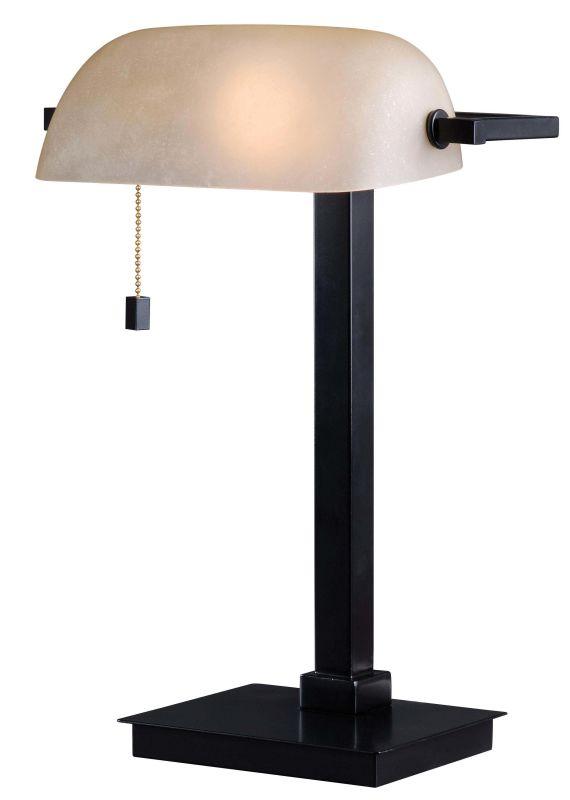 Kenroy Home 32305ORB Wall Street Single Light Desk Lamp Oil Rubbed