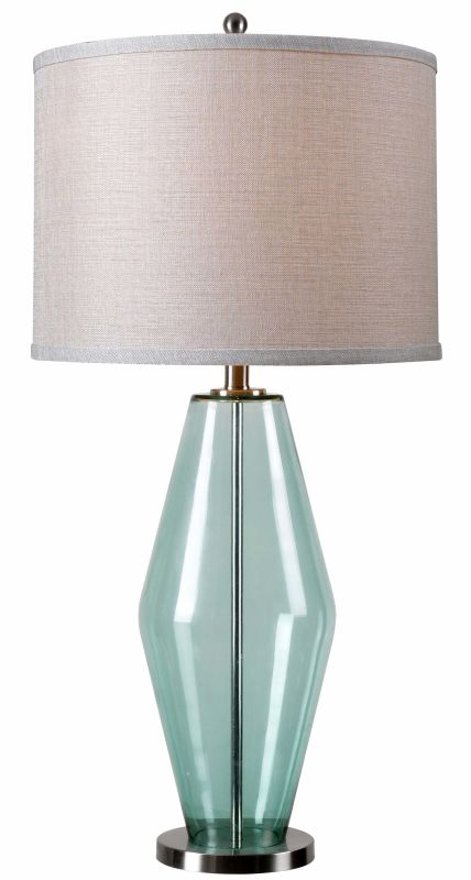 Kenroy Home 32315TEAL Azure 1 Light Table Lamp Teal Glass Lamps