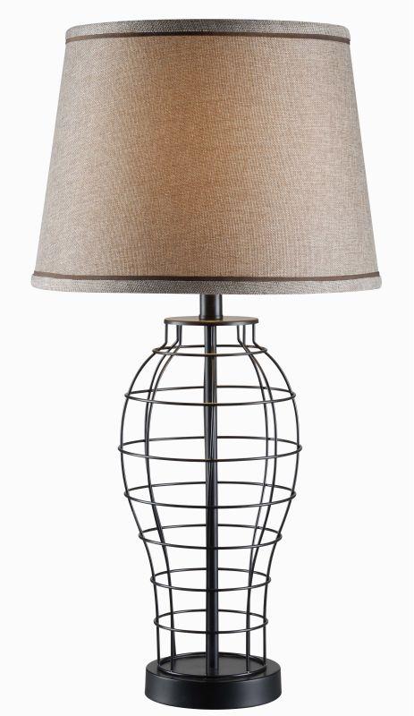 Kenroy Home 32405 Dresser 1 Light Table lamp Black Lamps