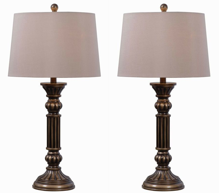 Kenroy Home 32417AGBZ Pack of 2 Reese 1 Light Lamp Set Aged Golden Sale $145.80 ITEM: bci2406431 ID#:32417AGBZ UPC: 53392039493 :