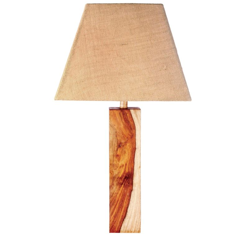 Kenroy Home 32423NWG Sheesham 1 Light Table Lamp Natural Wood Grain