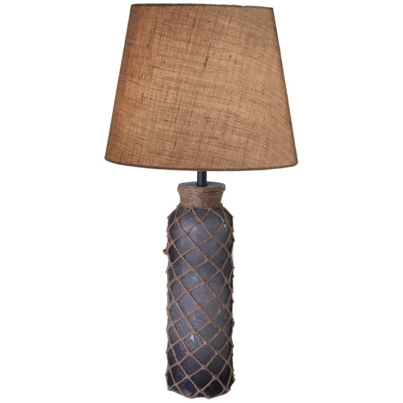 Kenroy Home 32438 Bates 1 Light Table lamp Aged Blue Glass Lamps