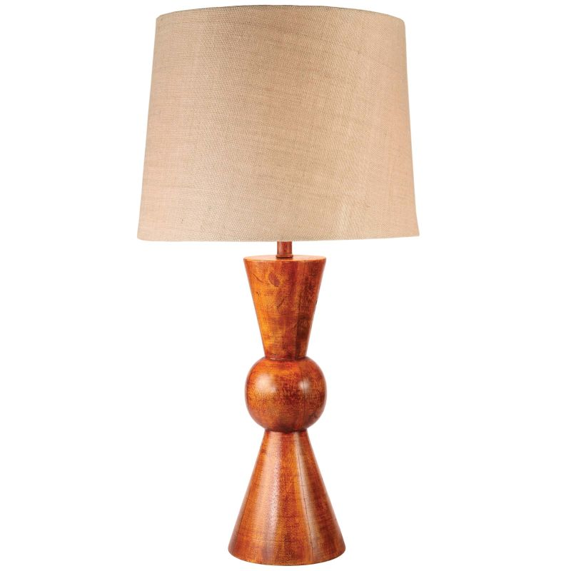 Kenroy Home 32443 Rica 1 Light Table lamp Teak Lamps