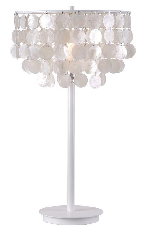 Kenroy Home 32458 Shelley 1 Light Table lamp White Lamps