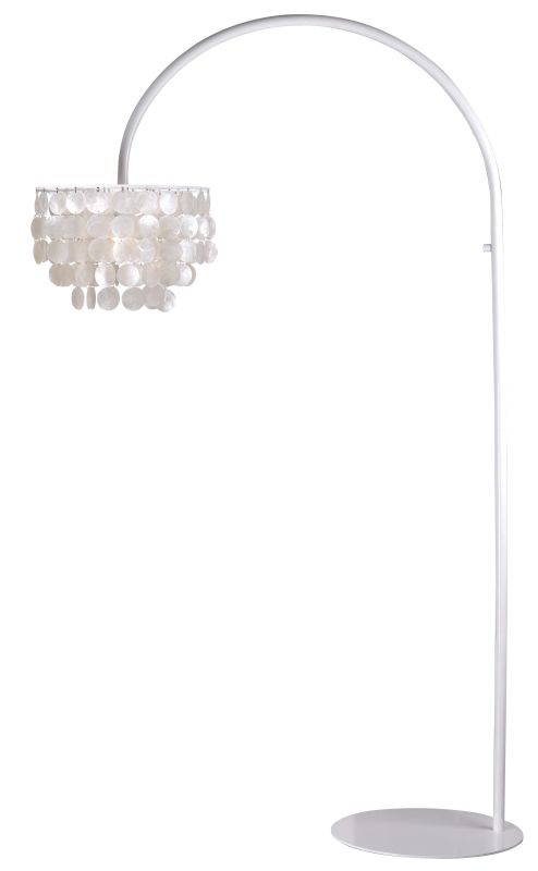 Kenroy Home 32459 Shelley 1 Light Arc Floor lamp White Lamps Arc Lamps