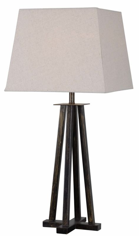 Kenroy Home 32467 Easley 1 Light Table lamp Bronze Heritage Lamps
