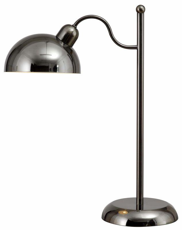 Kenroy Home 32474 Hitch Single Light Desk lamp Dark Antique Brass