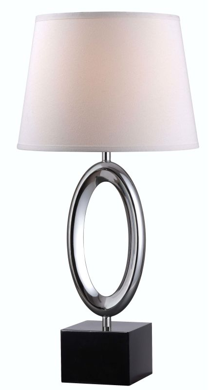 Kenroy Home 32490 O-Ring 1 Light Table lamp Chrome Lamps