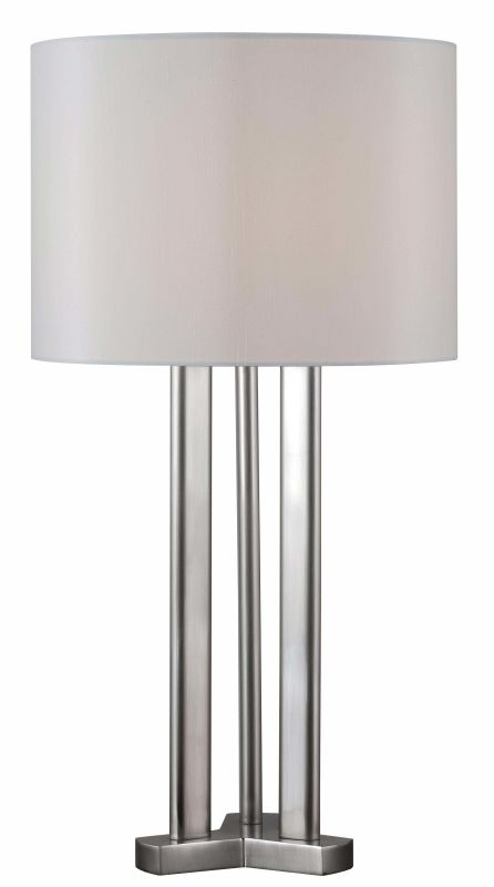 Kenroy Home 32492 Triplet 1 Light Table lamp Brushed Steel Lamps