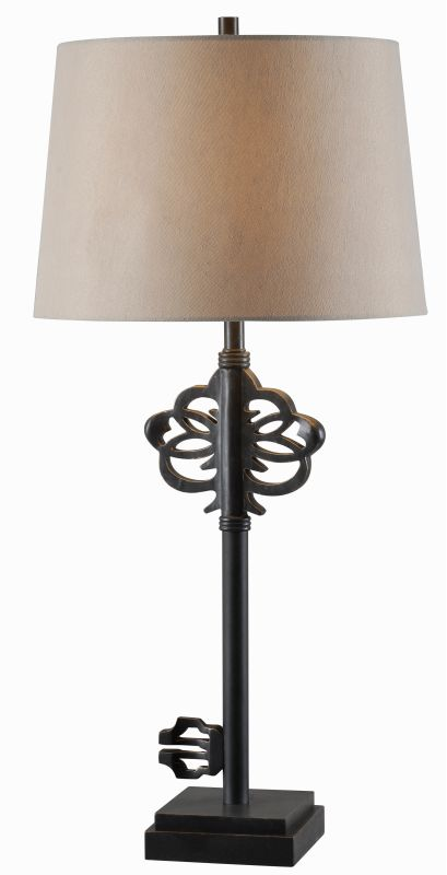 Kenroy Home 32556 Locksmith 1 Light Table lamp Golden Flecked Bronze
