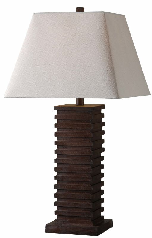 Kenroy Home 32576 Sawmill 1 Light Table lamp Dark Walnut Lamps