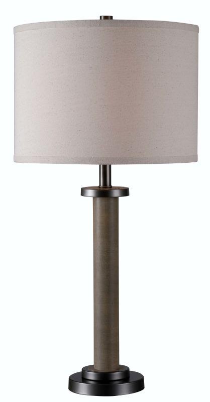 Kenroy Home 32587 Spool 1 Light Table lamp Wood Grain Lamps