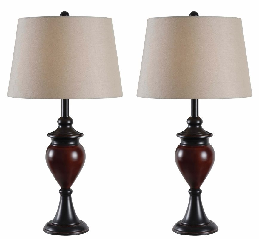 Kenroy Home 32592 Elliot 2 Pack 1 Light Table Lamps with Tapered