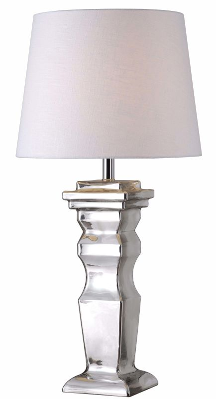 Kenroy Home 32595 Robinson 1 Light Table lamp Mercury Glass Lamps