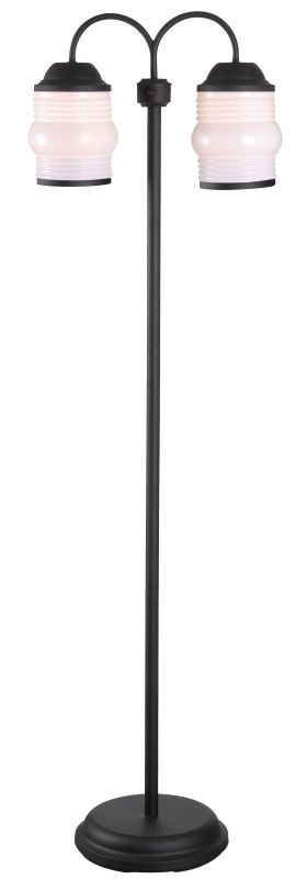"Kenroy Home 32608 Killian 2 Light 59"" Tall Outdoor Floor Lamp with Jar"