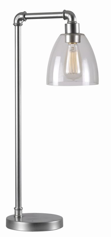 Kenroy Home 32631 Steam Fitter 1 Light Desk Lamp with Clear Shade