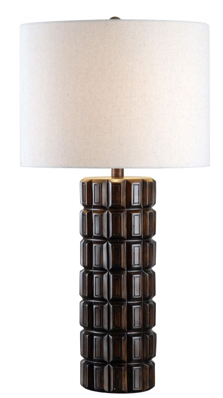 "Kenroy Home 32667 Sector 1 Light 30"" Tall Table Lamp with Cream Fabric"