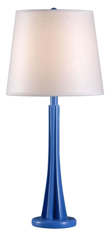 "Kenroy Home 32679 Swizzle 1 Light 27"" Tall Table Lamp with Off-White"