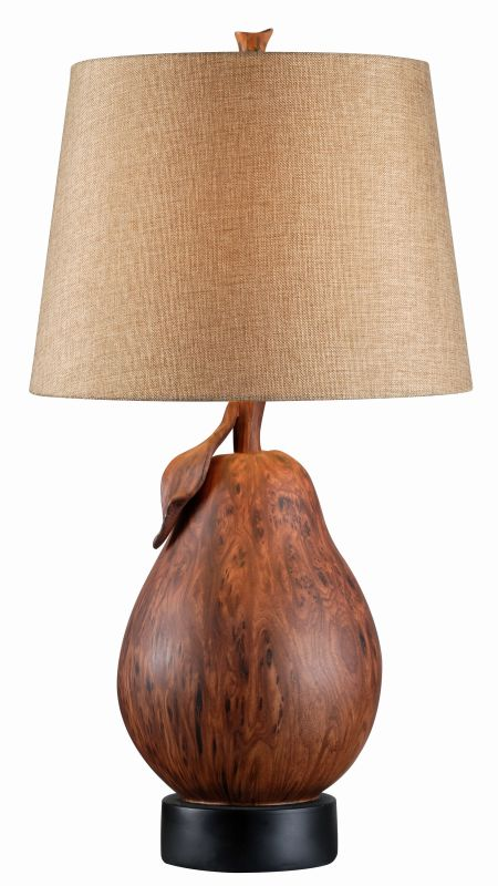 "Kenroy Home 32683 Le Poire 1 Light 28"" Tall Table Lamp with Brown"