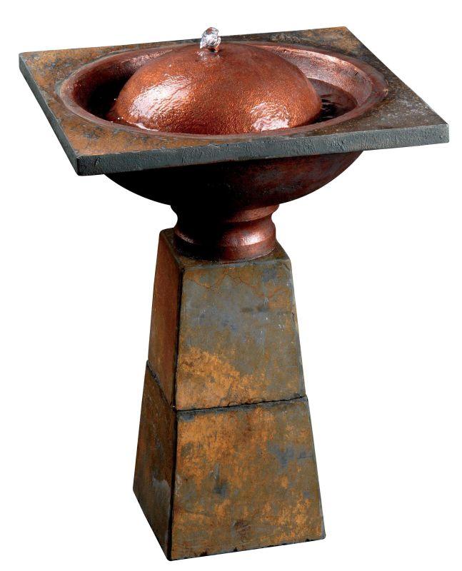 """Kenroy Home 50021 Cauldron 22"""" High Bird Bath Slate Fountains Bird"""