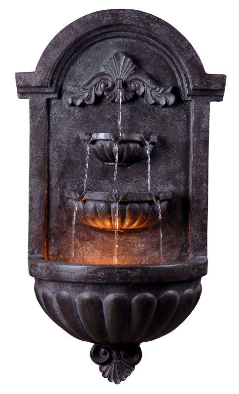 "Kenroy Home 50024 San Marco 35"" High Outdoor Wall Fountain Plum Bronze"