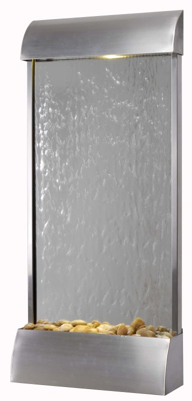 """Kenroy Home 50053STST Waterville 42"""" High LED Floor Fountain Stainless"""