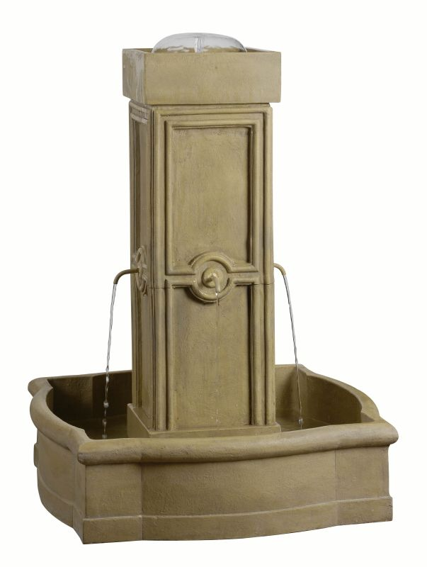 "Kenroy Home 50056 Quatrafoil 38"" Tall Outdoor Floor Fountains"