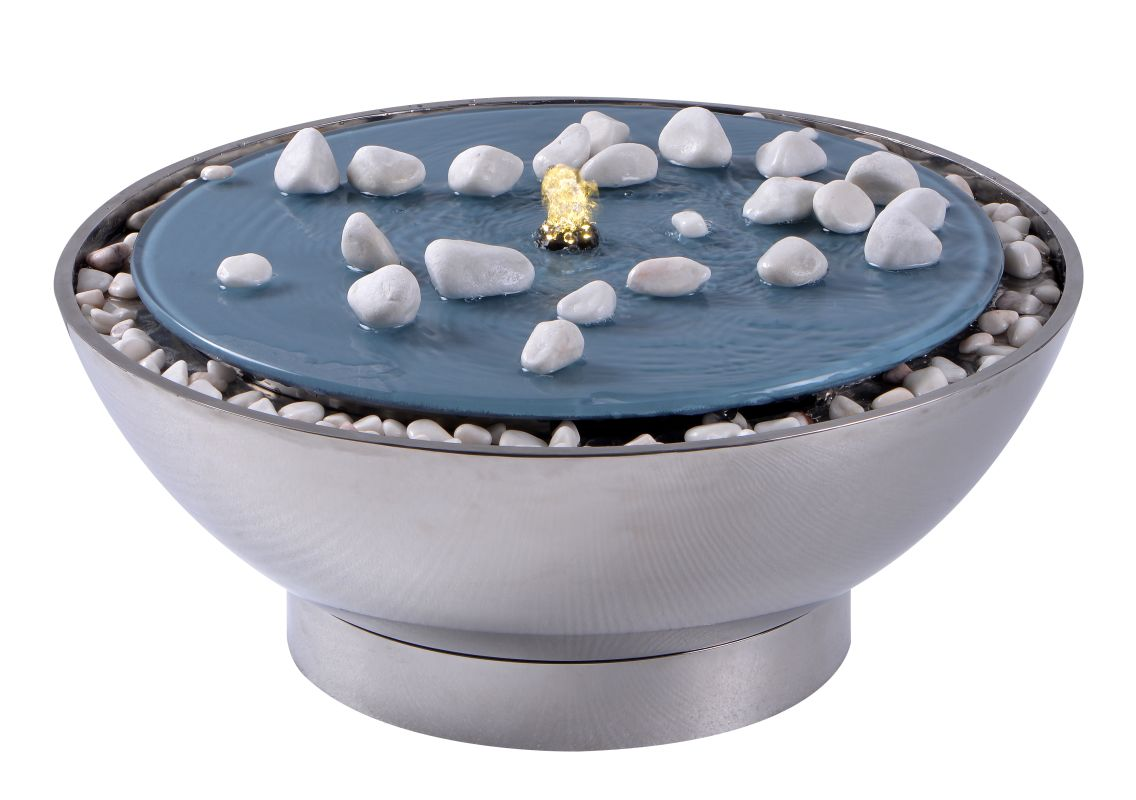 Kenroy Home 50064 Frost Outdoor Fountain Stainless Steel Fountains