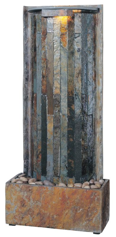 "Kenroy Home 50285 Waterwall 32"" High Table Fountain Natural Slate"