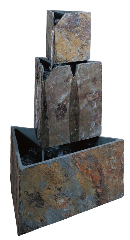 "Kenroy Home 50287 Stacked Triangles 30"" High Outdoor Floor Fountain"