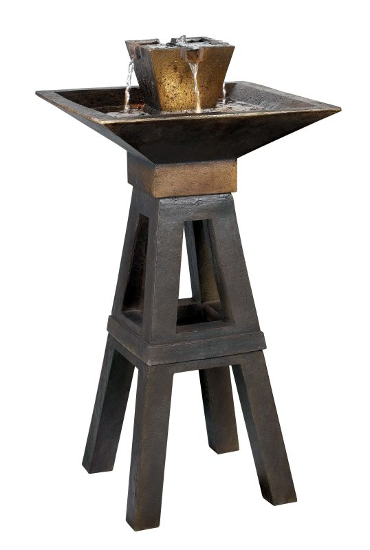 "Kenroy Home 50613CPBZ Kenei 42"" High Outdoor Fountain Copper Bronze"