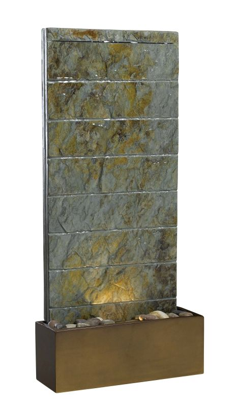 "Kenroy Home 50621SL Brook 36"" High Outdoor Floor Fountain Natural"