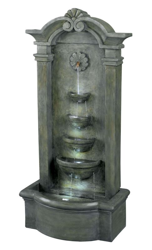 "Kenroy Home 53245 Sienna 44"" High Outdoor LED Floor Fountain Mossy"