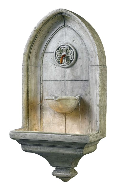 "Kenroy Home 53265 Canterbury 35"" High Outdoor Wall Fountain Cement"