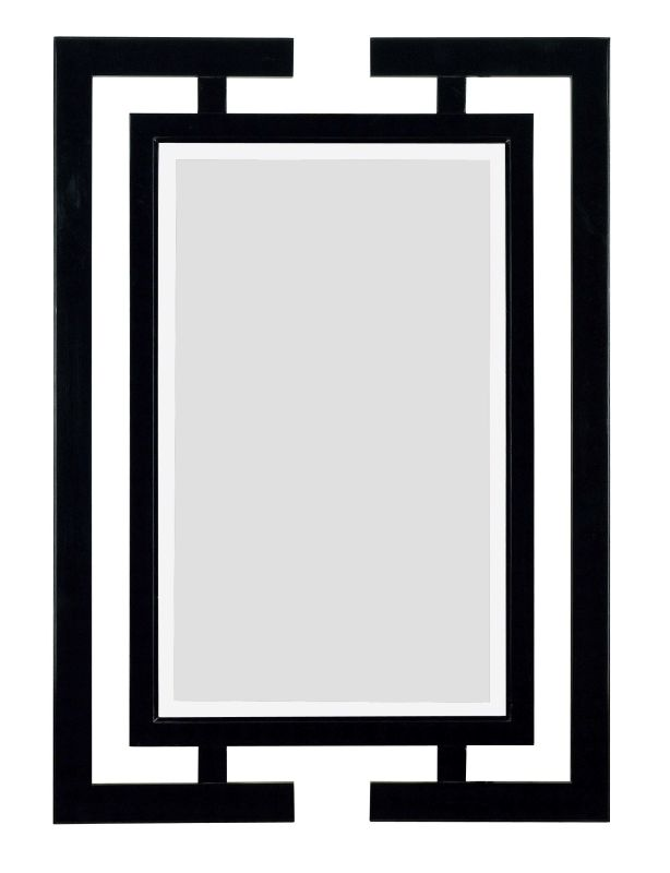Kenroy Home 60002 Shinto Beveled Rectangular Mirror Gloss Black Home