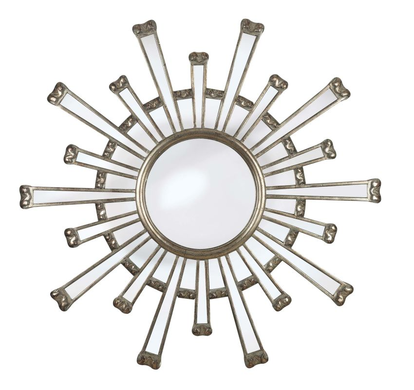 Kenroy Home 60009 Cameron Round Mirror Silver Home Decor Lighting